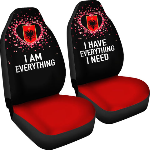 Image of Albania Car Seat Covers Couple Valentine Everthing I Need (Set of Two) | 1sttheworld