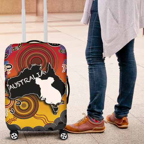 Australia Aboriginal Luggage Covers With Map TH4