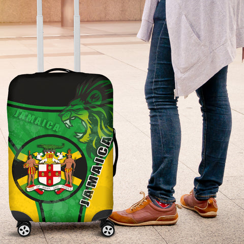 Jamaica Lion Luggage Covers Circle Stripes Flag Version K13