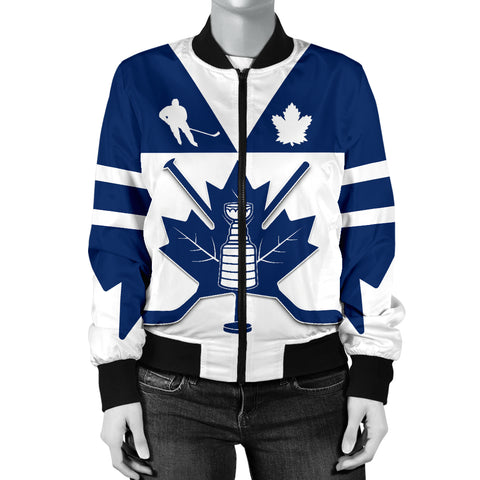 Image of Canada Hockey Maple Leaf Champion Women Bomber Jacket K4