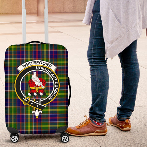 Whitefoord Tartan Clan Badge Luggage Cover Hj4 | Love The World