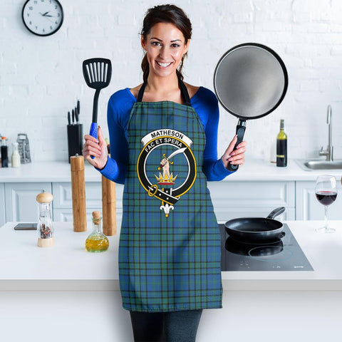 Image of Matheson Hunting Ancient Tartan Clan Crest Apron HJ4