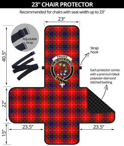 Image of Fraser Modern Tartan Clan Badge Sofa Protector K7
