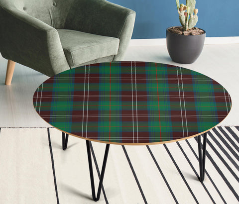 Chisholm Hunting Ancient Tartan Circular Coffee Table - BN