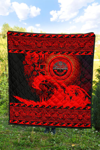 Federated States Of Micronesia Quilt Wave Red Design K62