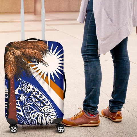 Marshall Islands Polynesian Luggage Covers - Palm Tree - BN39