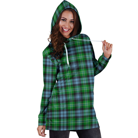 Image of Arbuthnot Ancient Tartan Hoodie Dress HJ4 |Women's Clothing| 1sttheworld