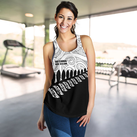 Image of New Zealand Racerback Tank | Women Clothing | Maori