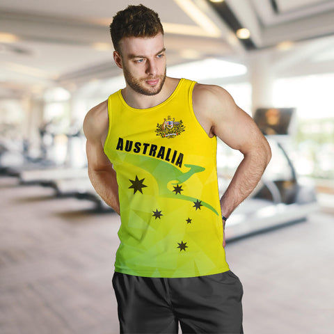 Australia Men Tank Top Kangaroo Cricket Style K4