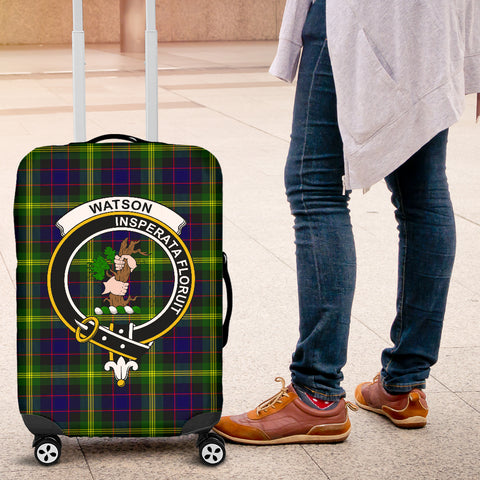 Image of Watson Tartan Clan Badge Luggage Cover Hj4 | Love The World