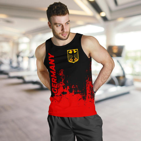 Germany Men Tank Top - Smudge Style - BN1510