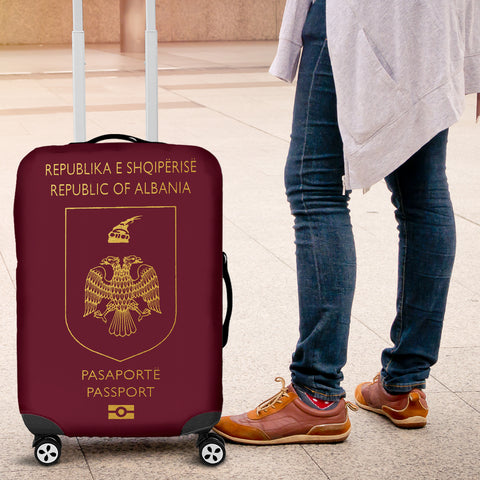 Albania Passport Luggage Covers - BN04