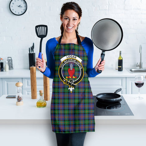 Logan Ancient Tartan Clan Crest Apron HJ4