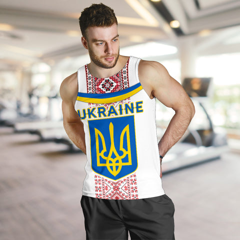 Image of Ukraine Men Tank Top - Vibes Version K8
