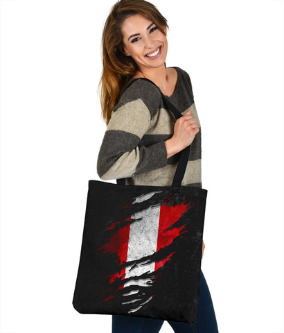 Peru in Me Tote Bag - Special Grunge Style A7