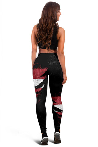 Latvia In Me Women's Leggings - Special Grunge Style A31