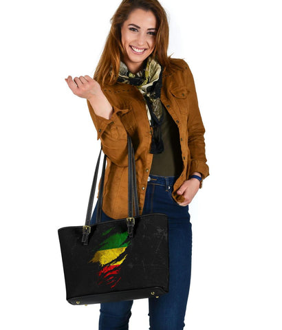 Ethiopia in Me Small Leather Tote - Special Grunge Style A7