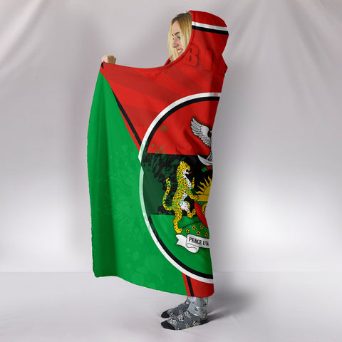 Biafra Hooded Blanket Circle Stripes Flag Proud Version K13