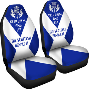 Scotland Car Seat Covers (Set Of 2) - Let The Scottish Handle It | Custom Design