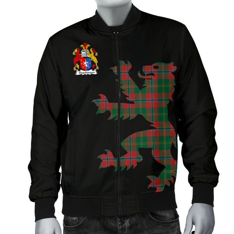 Hutchinson Tartan Lion And Thistle Bomber Jacket For Men Th8