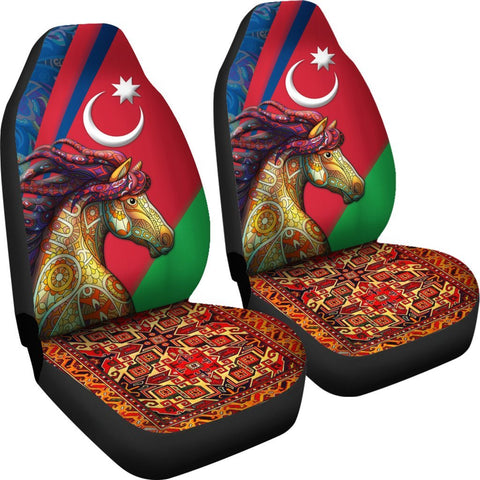 Azerbaijan Pride and Heritage Car Seat Covers - Happy Independence's Day - BN21