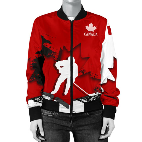 Canada Bomber Jacket - Maple Leaf Hockey (Women) A02