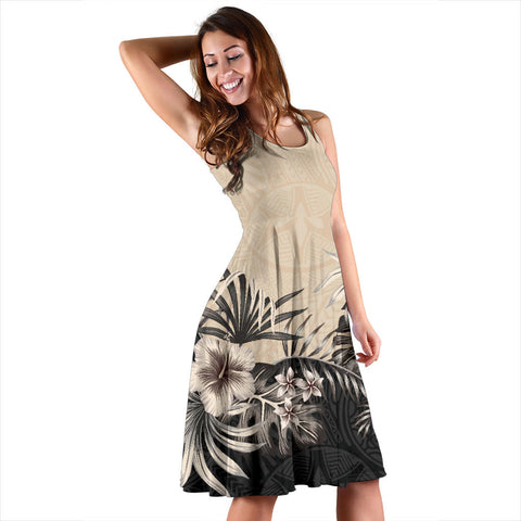 Hibiscus Hawaiian Midi Dress | Clothing | Love The World