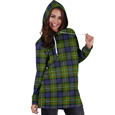 Fergusson Modern Tartan Hoodie Dress HJ4 |Women's Clothing| 1sttheworld