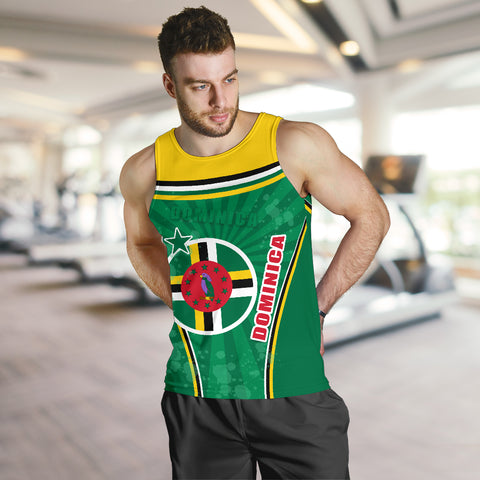 Dominica Men Tank Top Circle Stripes Flag Version K13