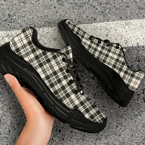 SCOTT BLACK & WHITE ANCIENT Tartan Chunky Sneaker - BN