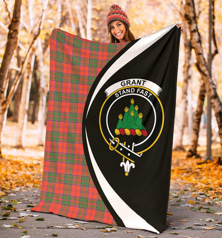 Image of Grant Ancient Tartan Clan Crest Premium Blanket Hj4