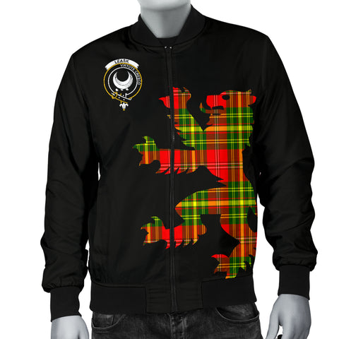 Leask Tartan Lion And Thistle Bomber Jacket for Men TH8