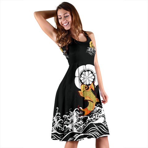 Image of The Golden Koi Fish Dress A7
