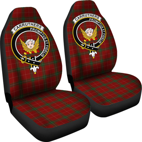 Image of Carruthers Tartan car seat covers - clan badge K9