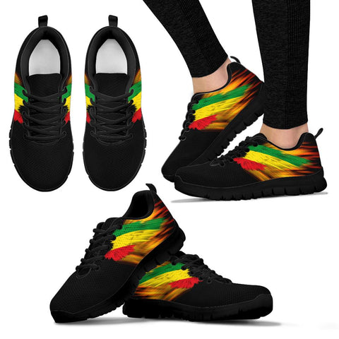 Ethiopia Sneakers - Fire Wings and Flag | LOVE THE WORLD