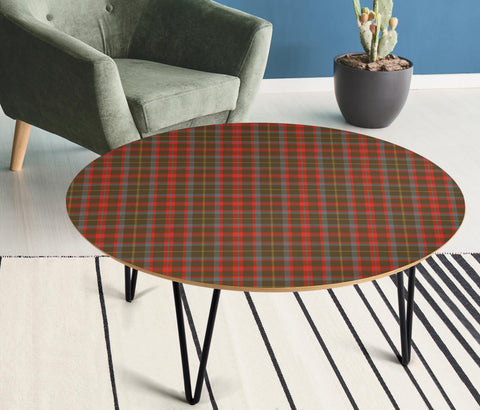 Image of MacKintosh Hunting Weathered Tartan Circular Coffee Table - BN