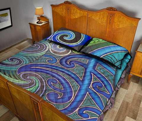 Image of Maori Quilt Bed Set 09 Bn10