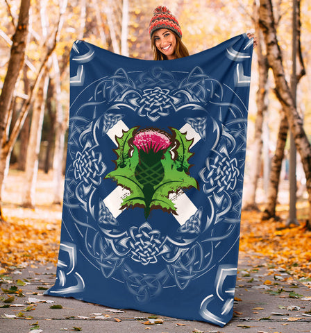 Image of Saltire Thistle Blanket