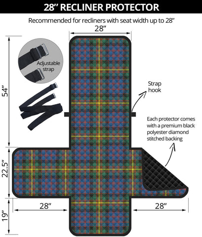 Image of MacSporran Ancient Tartan Recliner Sofa Protector | Tartan Home Set