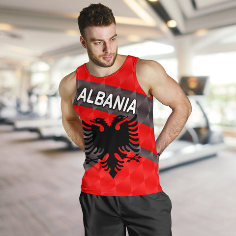 Albania Men Tank Top Sporty Style K8