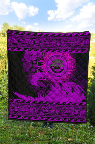 Federated States Of Micronesia Quilt Wave Pureple Design K62