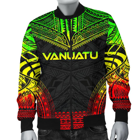 Vanuatu Polynesian Chief Men's Bomber Jacket - Reggae Version - Bn10