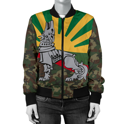 Lithuania Women's Bomber Jacket Iron Wolf A7