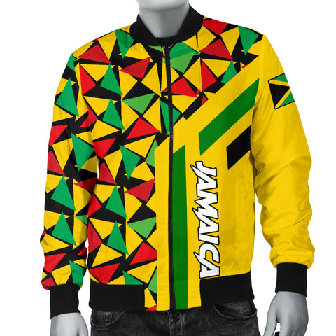 Image of Jamaica Bomber Jacket - Jamaica Flag Classic Reggae Men A10