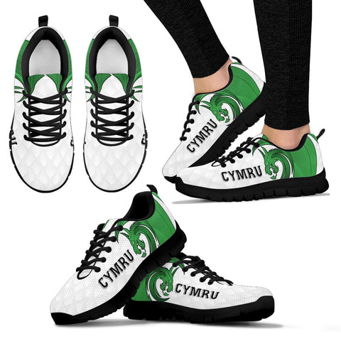 Welsh Sneakers - Welsh Myth Dragon Green A02