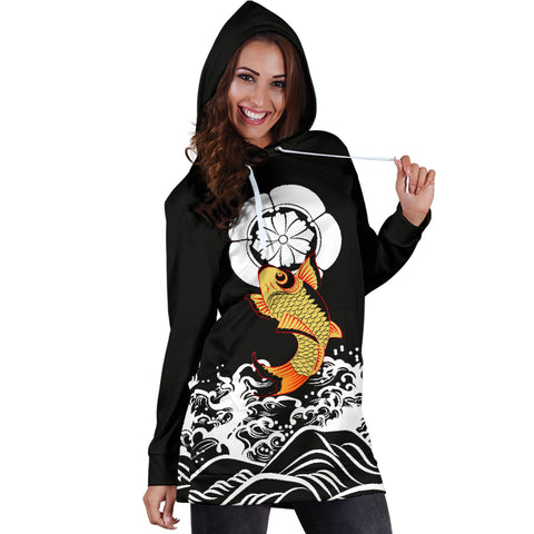 Image of The Golden Koi Fish Hoodie Dress A7