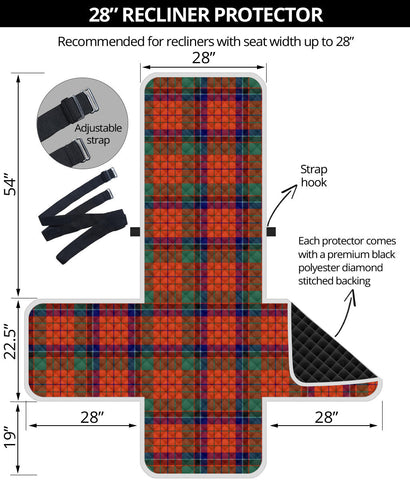 Image of Nicolson Ancient Tartan Recliner Sofa Protector | Tartan Home Set