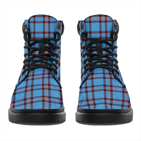Elliot Ancient Tartan Clan Crest All-Season Boots HJ4