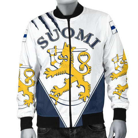 Finland Hockey Bomber Jacket - Hockey Lion (Men) | Love The World