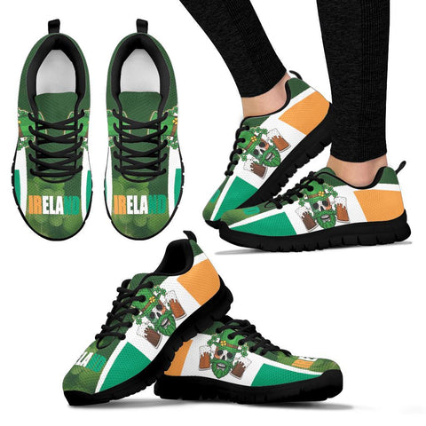 Image of Happy St. Patrick's Day 2021 Sneakers - Ireland Flag With Irish Skull - BN21